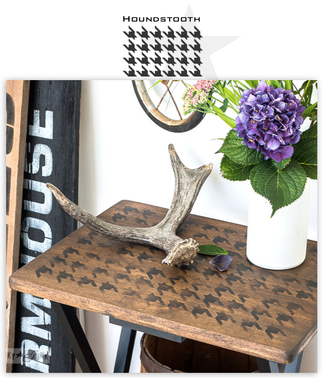 Houndstooth stencils | Funky Junk's Old Sign Stencils