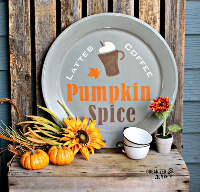Pumpkin Spice platter by Organized Clutter, featured on Funky Junk Interiors