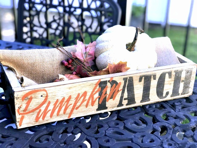 Rustic Pumpkin Patch crate by Homeroad, featured on Funky Junk Interiors