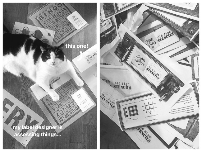 endless label printing with a cat manager