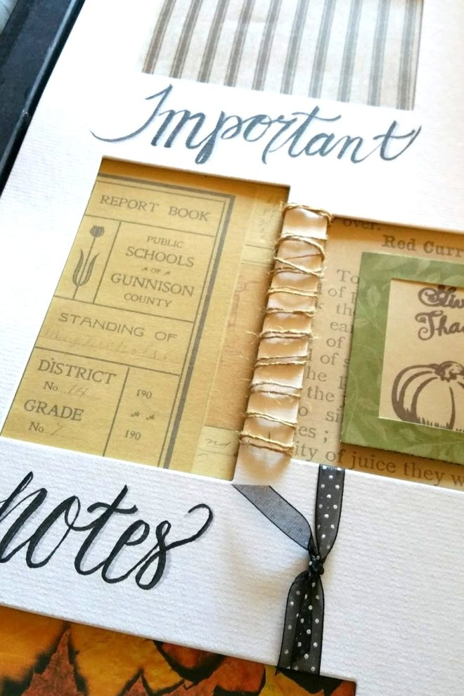 Picture frame dry erase message board by Styling With CJD.Sign, featured on Funky Junk Interiors