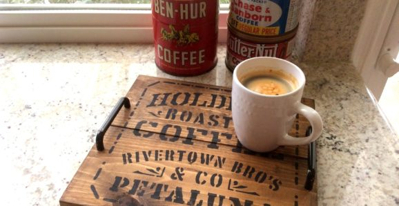 pallet wood crate styled coffee tray