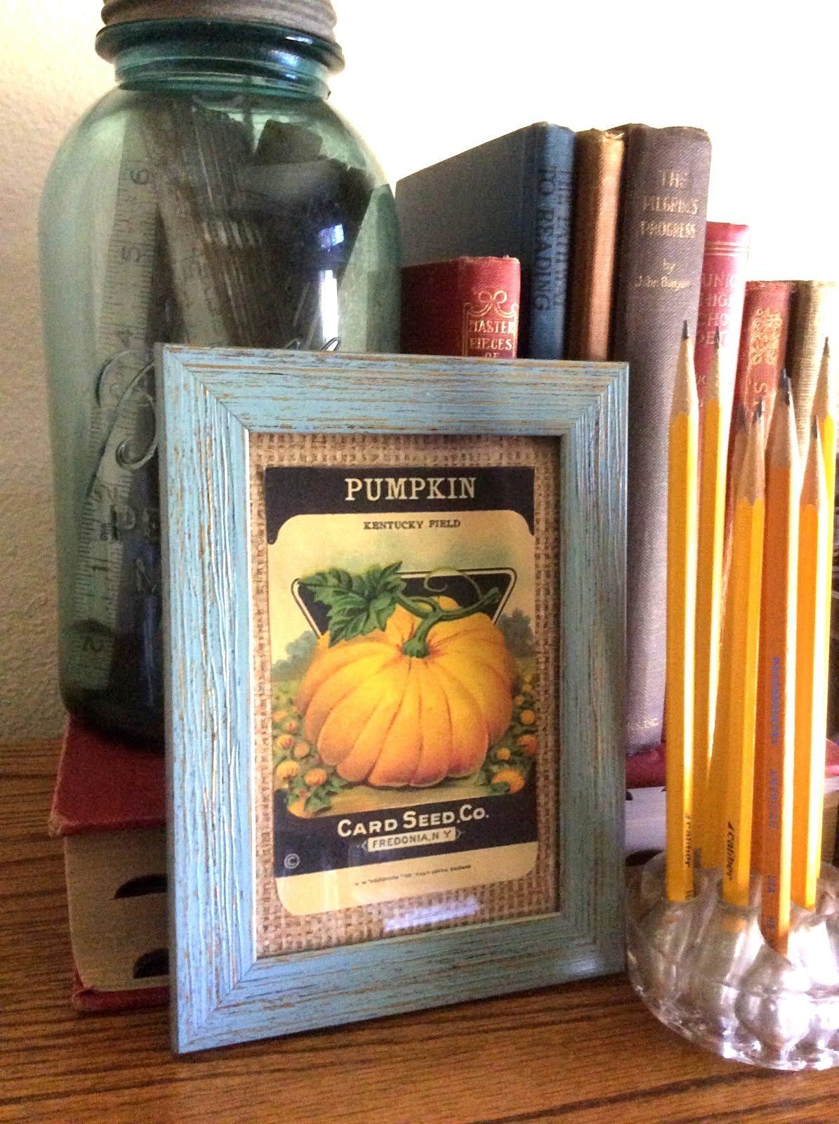 Printed pumpkin seed packet picture by Fresh Vintage by Lisa S, featured on Funky Junk Interiors