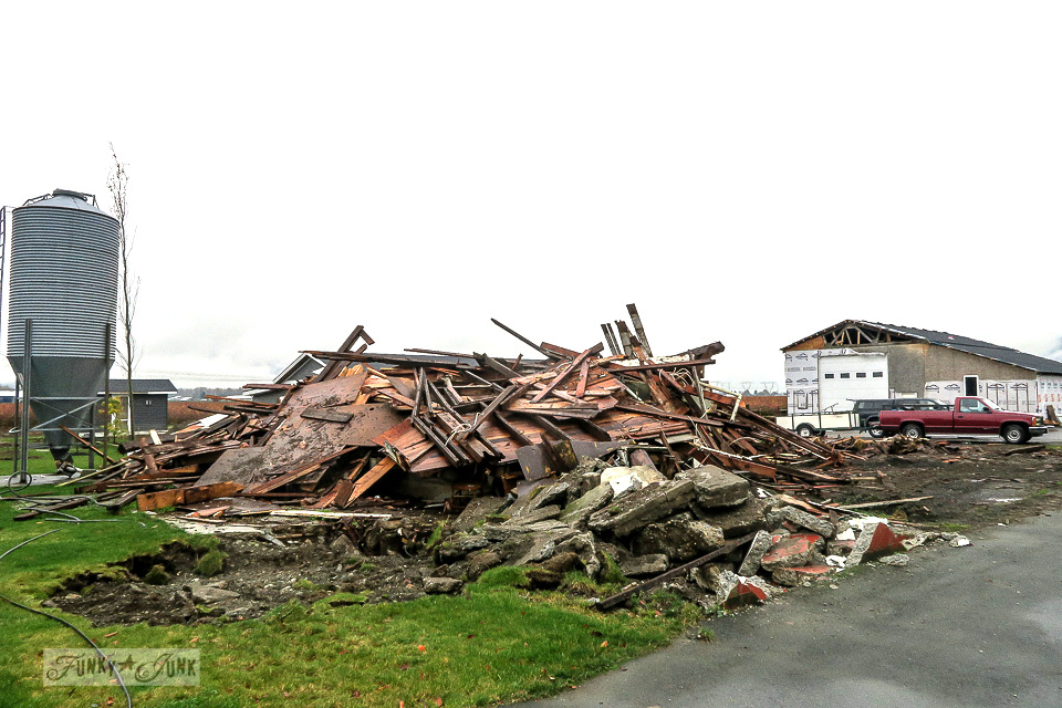 The day the big barn came down. A childhood farm story on salvaging memories and barn wood.
