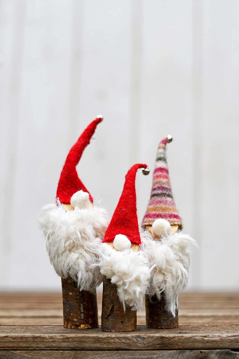Branch Christmas Gnomes by Pillar Box Blue, featured on Funky Junk Interiors