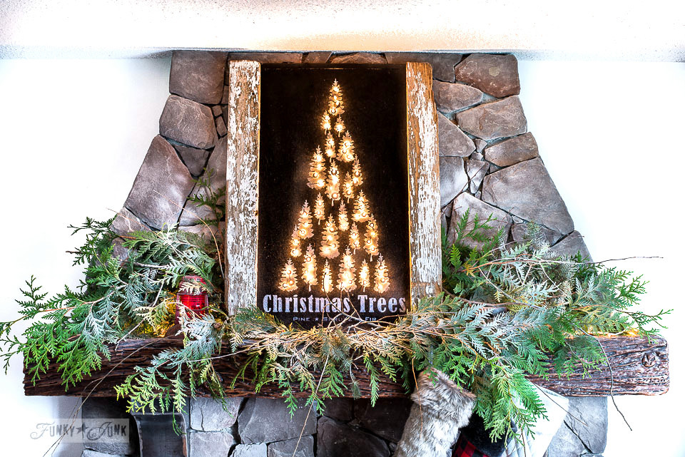 Illuminated Christmas Trees mantel sign - visit here to find all mantel designs