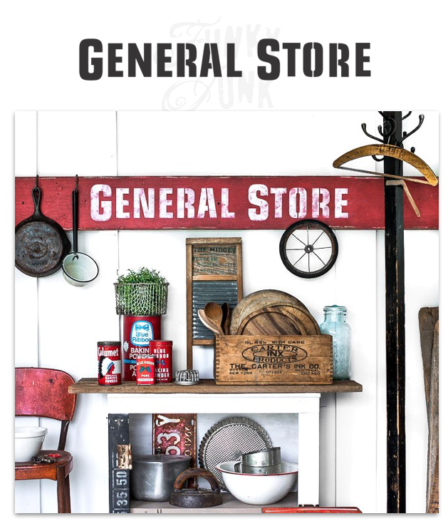 General Store | Funky Junk's Old Sign Stencils instore HERE