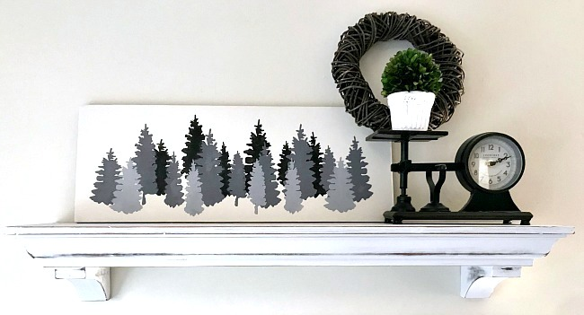 Shades of grey Christmas or winter trees by Homeroad, featured on Funky Junk Interiors