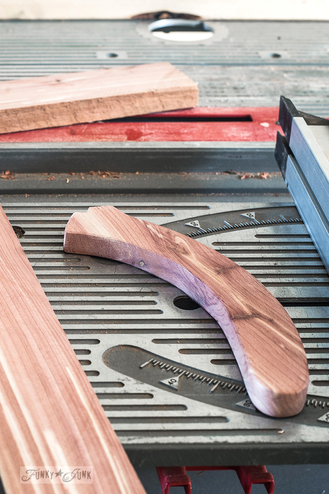 How to make a hand made red cedar push stick for a table saw
