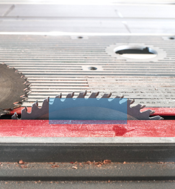 How to adjust the height of a table saw blade according to the wood being cut. The wood should reach just above the top gullet. This reduces accidents and creates cleaner cuts.