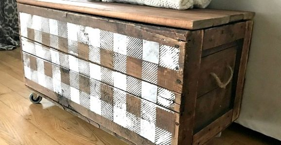antique crate rolling storage