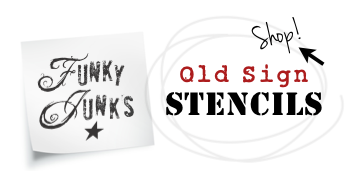 Click to visit shop at Funky Junk's Old Sign Stencils Store