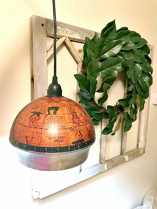 Globe ice bucket light by Homeroad, featured on Funky Junk Interiors