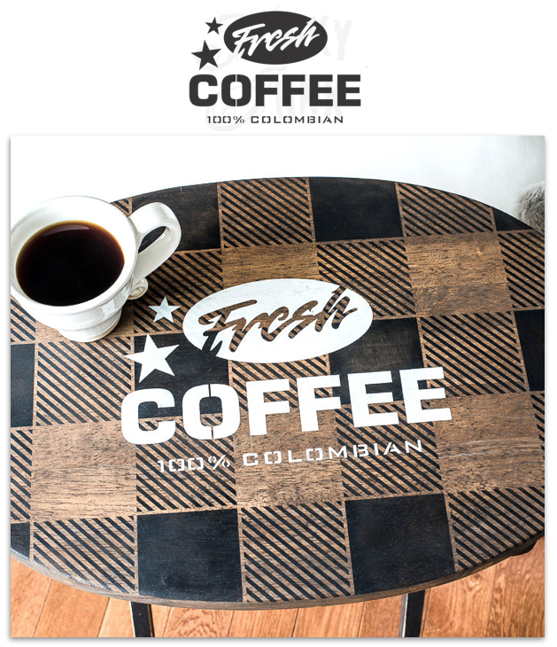 Fresh Coffee 100% Colombian | Funky Junk's Old Sign Stencils