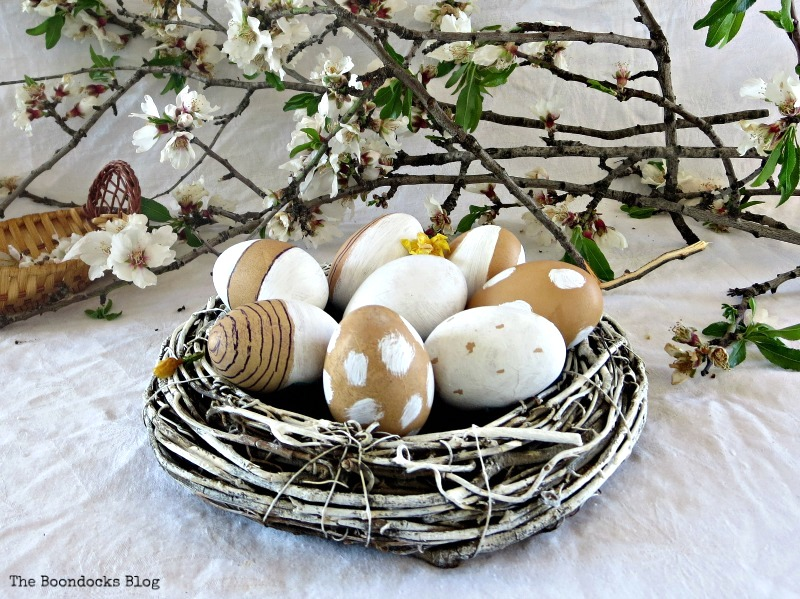 Wreath easter egg nest by The Boondocks Blog, featured on Funky Junk Interiors