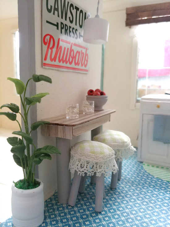 Mini DIY dollhouse by Little Vintage Cottage, featured on Funky Junk Interiors