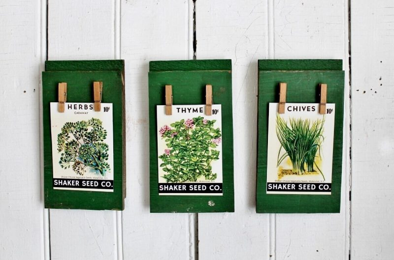 Vintage seed packet wall art by Adirondack Girl At Heart, featured on Funky Junk Interiors