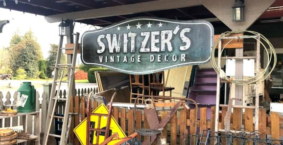 Antique shopping at Switzer's Vintage Decor in Chilliwack, BC Canada-001