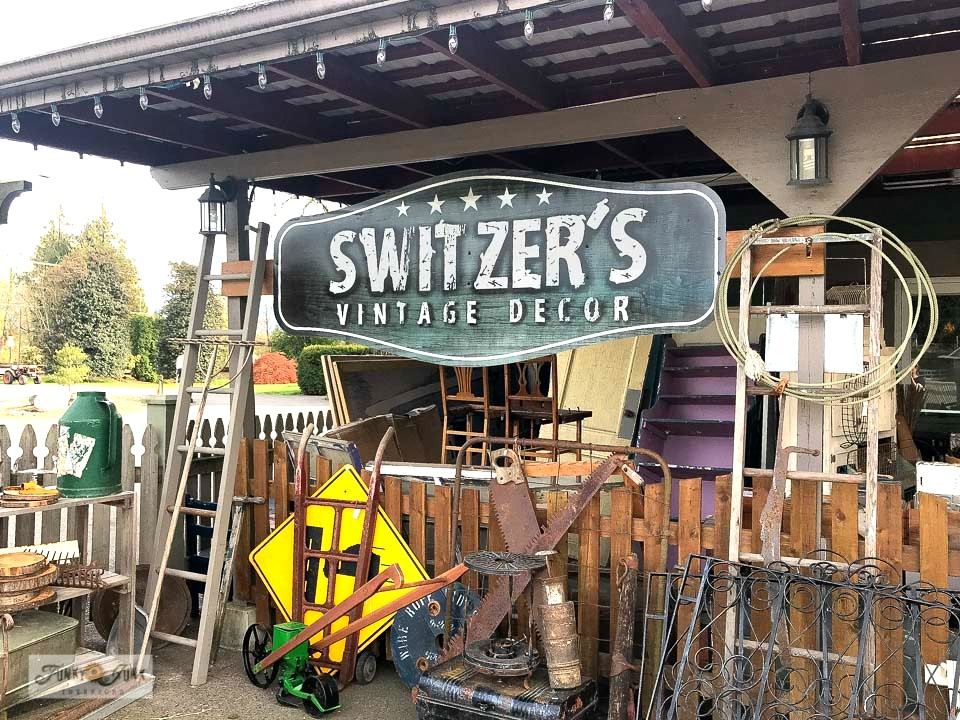 Antique shopping at Switzer's Vintage Decor in Chilliwack, BC Canada