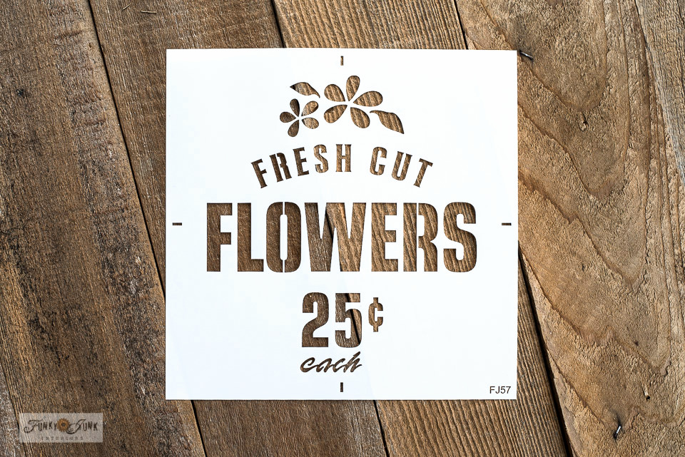 Fresh Cut Flowers stencil | Funky Junk's Old Sign Stencils