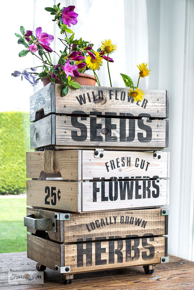 Learn all about Funky Junk's Old Sign Stencils and shop HERE