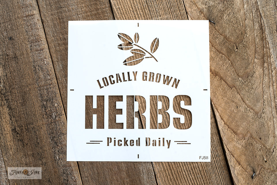 Locally Grown Herbs stencil | Funky Junk's Old Sign Stencils