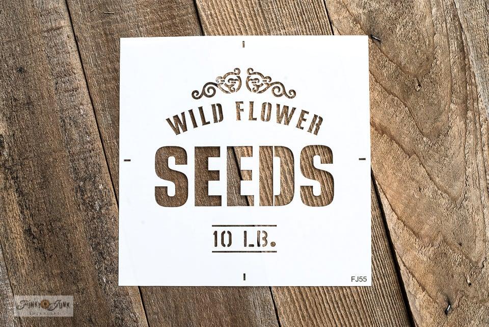 Wild Flower Seeds stencil | Funky Junk's Old Sign Stencils