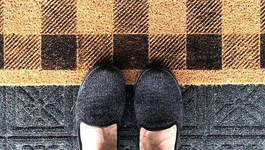 Buffalo Checked front door mat