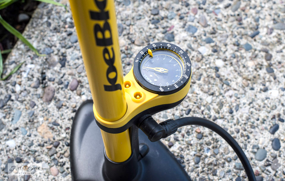 Get this quality floor bike pump - part of Learn how to buy the best bike for you with 10 must-get accessories! You will fit your custom-fit bike so well, you won't want to get off of it! Learn all the tips in this post.