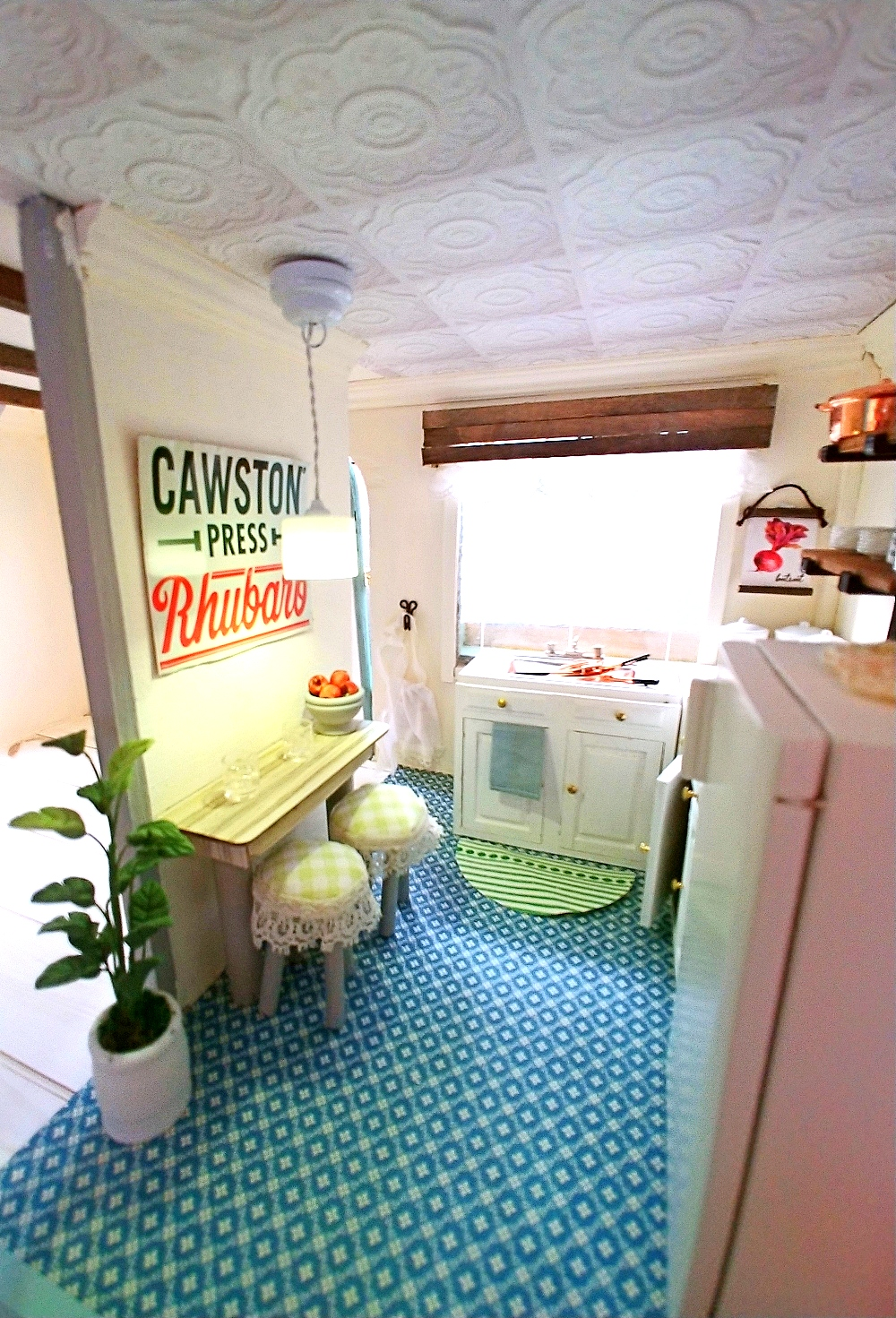 DIY Dollhouse and furniture by Little Vintage Cottage, featured on Funky Junk Interiors