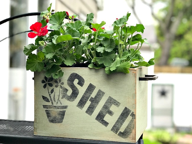 Ikea hack Shed planter crate by Homeroad, featured on Funky Junk Interiors