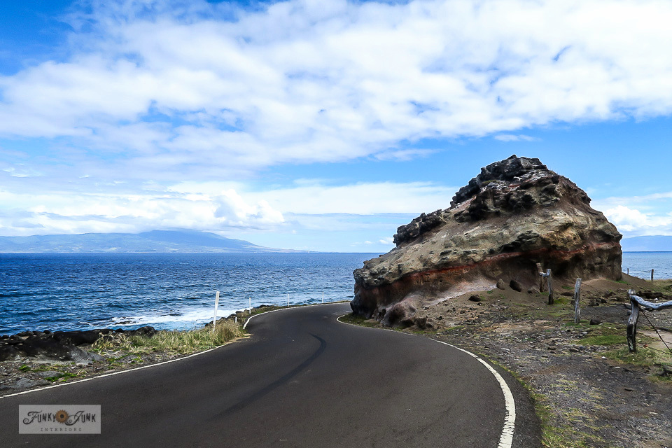 A winding road trip from Halawa Bay, on Molokai, Hawaii