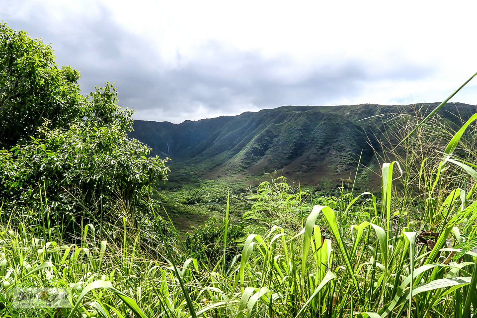 A scene from Molokai, Hawaii along the way to Halawa Bay.