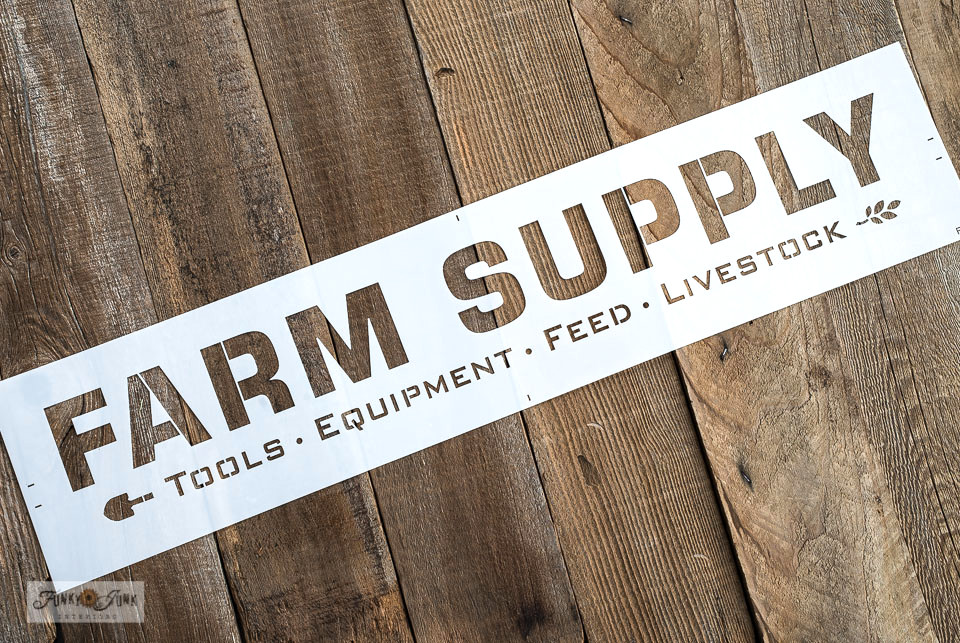 Farm Supply product shot | Funky Junk's Old Sign Stencils