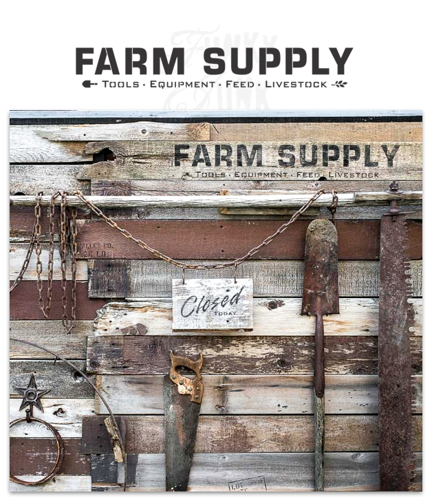Learn how to make an antique Farm Supply sign with this stencil by Funky Junk's Old Sign Stencils!