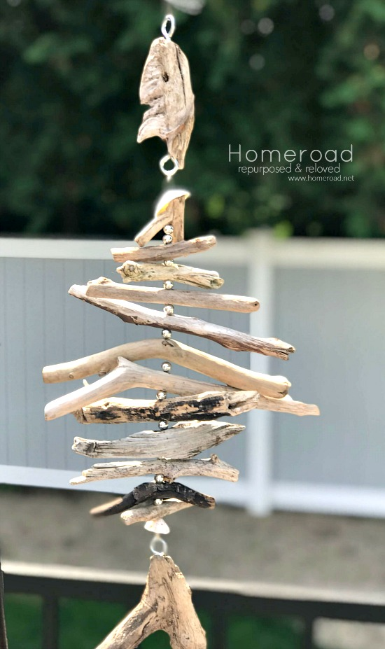 Driftwood hanging fish by Homeroad, featured on Funky Junk Interiors