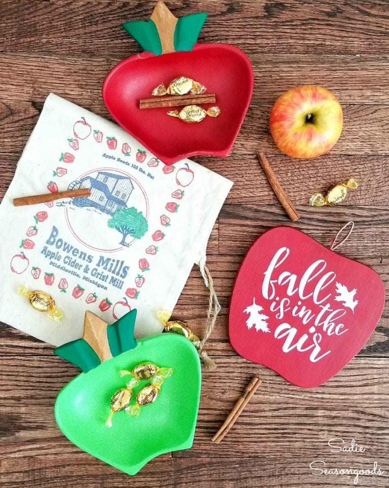 Monkey pod apple bowls by Sadie Seasongoods, featured on Funky Junk Interiors