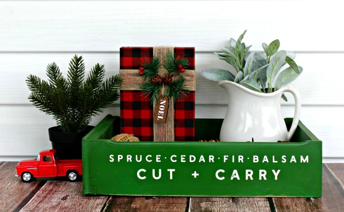 Christmas tree drawer tray by Knick of Time, featured on Funky Junk Interiors