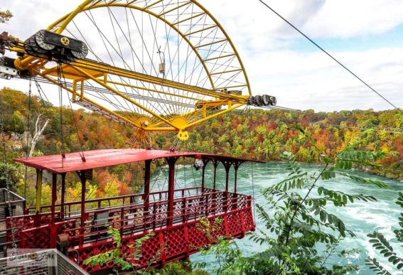 Whirlpool Aero Car Niagara Falls during fall