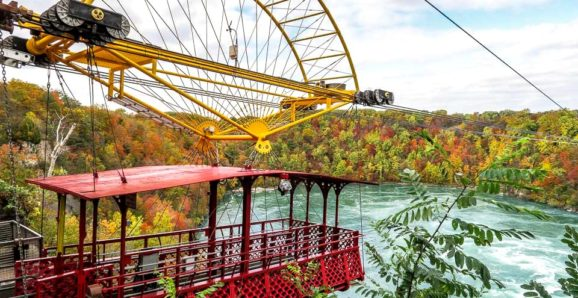 Whirlpool Aero Car Niagara Falls during fall