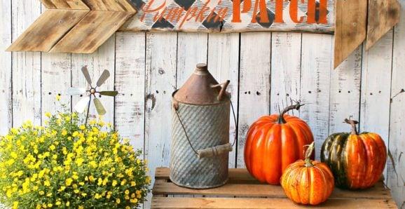 arrow pumpkin patch fall sign Organized Clutter