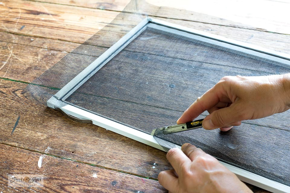 Learn how to replace window screens... it's price efficient and easy doing it yourself!