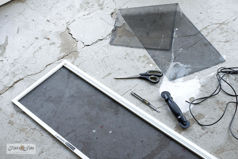 Learn how to replace your own window screens! #windows #windowscreens #diy #homeimprovement
