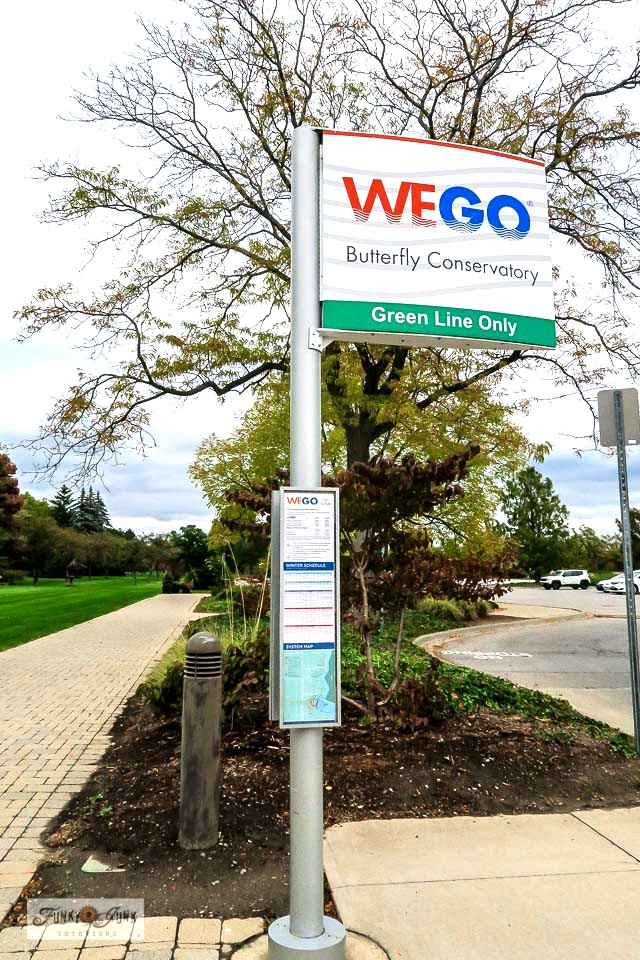 The We Go bus system near Niagara Falls that loops around nearby sightseeing areas, including the Butterfly Conservatory.