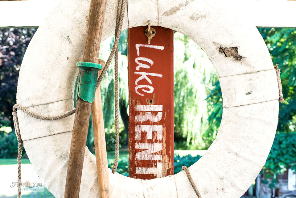 Learn how to give a stenciled image a hand painted look with this Lake Rentals sign.
