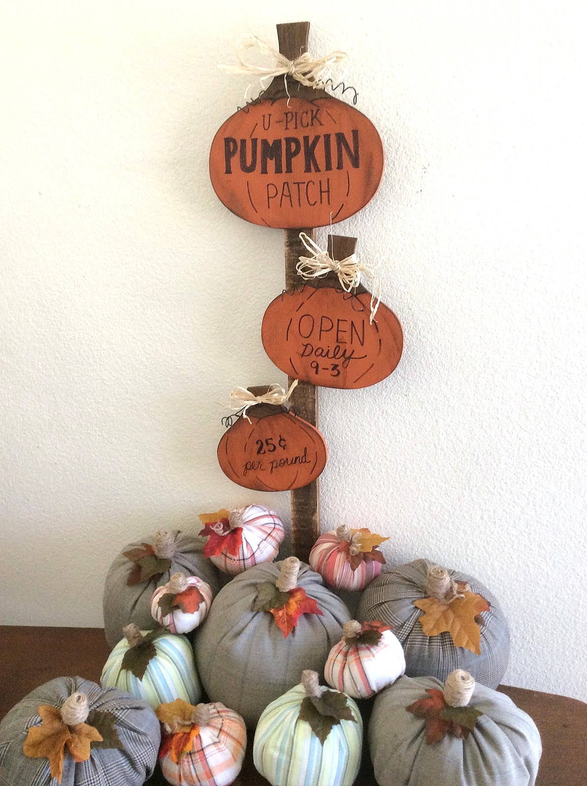 Pumpkin patch trivet signs by Fresh Vintage By Lisa, featured on Funky Junk Interiors