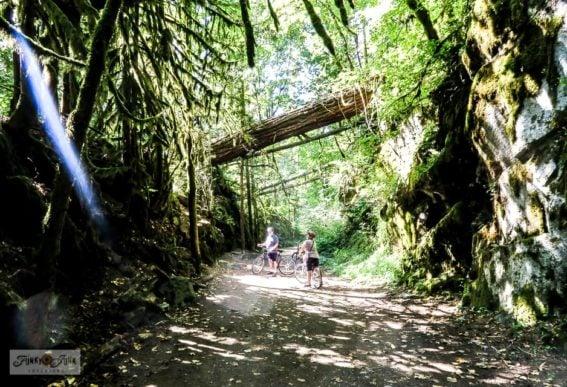 Bike ride down Kettle Valley Railway Trail