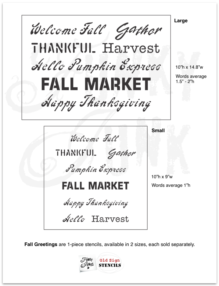 Fall Greetings by Funky Junk's Old Sign Stencils