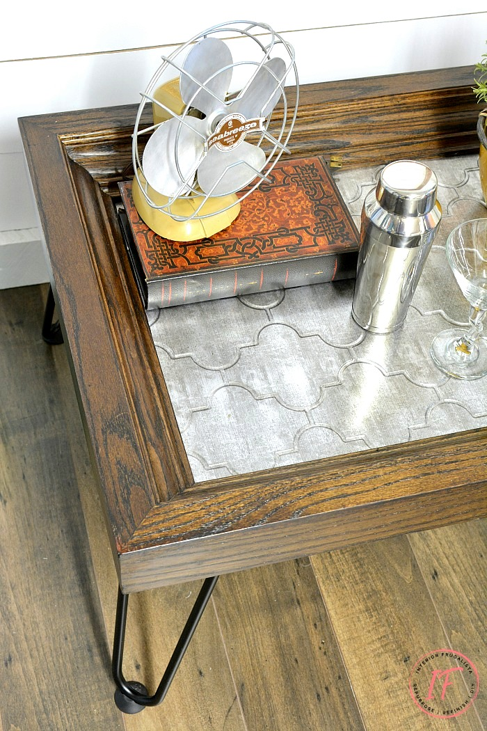Oak frame coffee table by Interior Frugalista, featured on Funky Junk Interiors