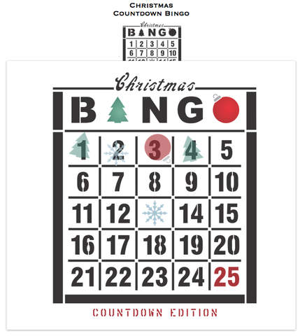 Christmas Countdown Bingo | Funky Junk's Old Sign Stencils